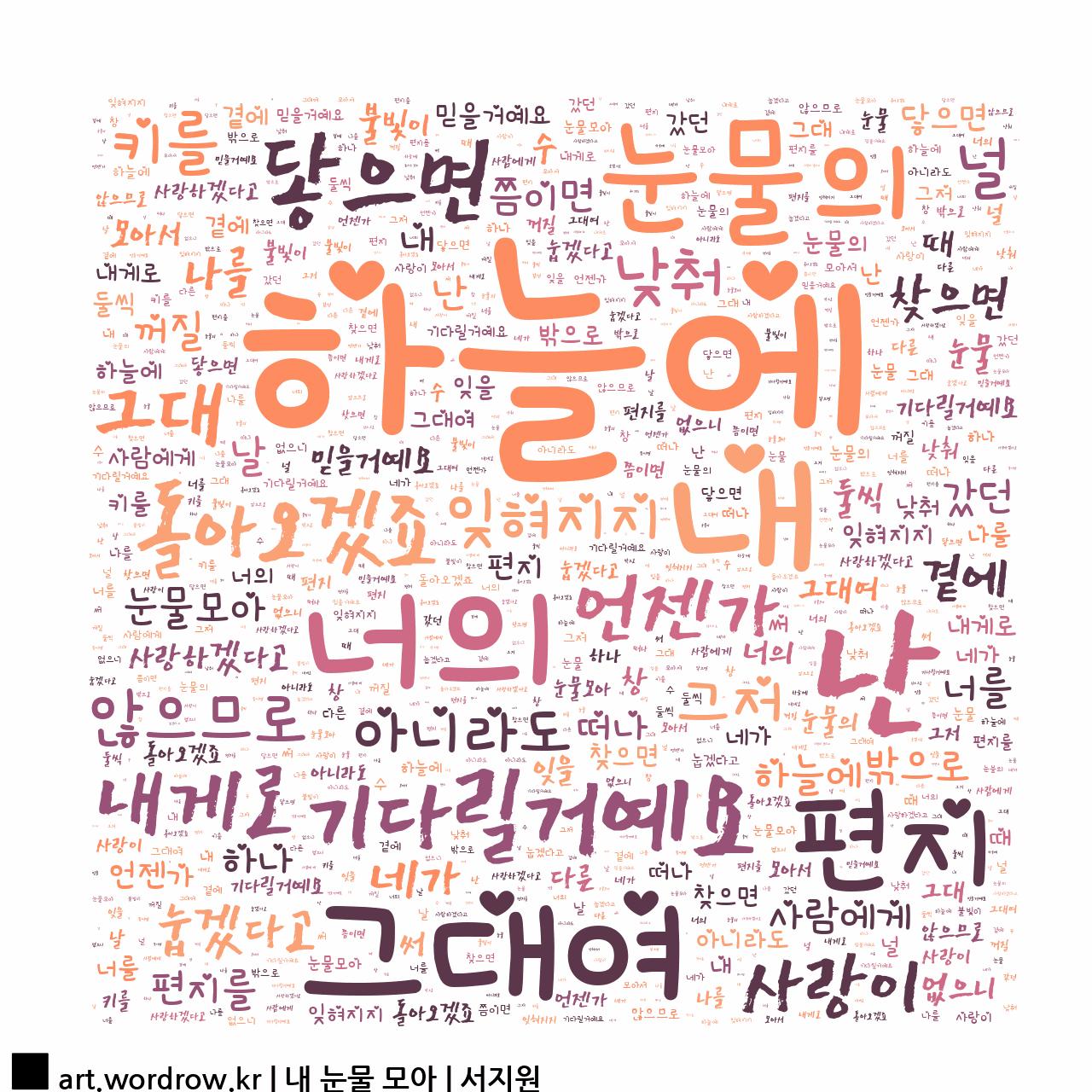 워드 아트: 내 눈물 모아 [서지원]-72